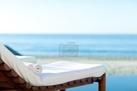 Sunbed on a beach