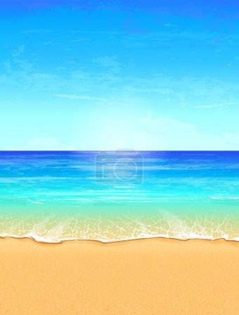 Photo for Seascape vector illustration. Paradise beach. - Royalty Free Image