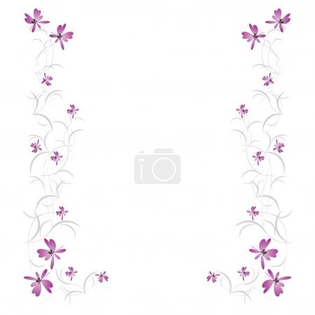 Illustration for Background with floral pattern - Royalty Free Image