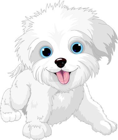 Illustration of Cute Playful lap-dog...
