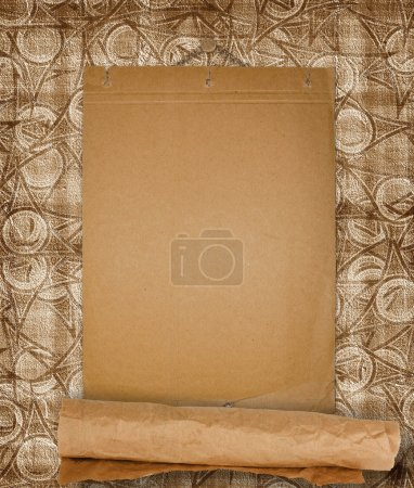 Grunge paper design in scrapbooking style on the abstract backgr