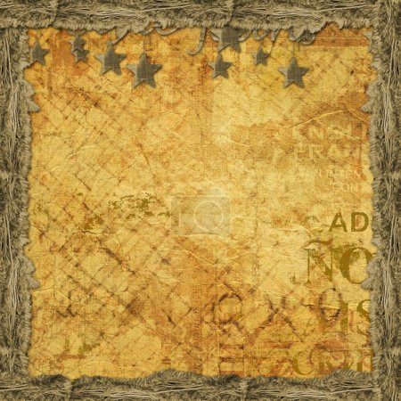 Grunge abstract background with old torn paper