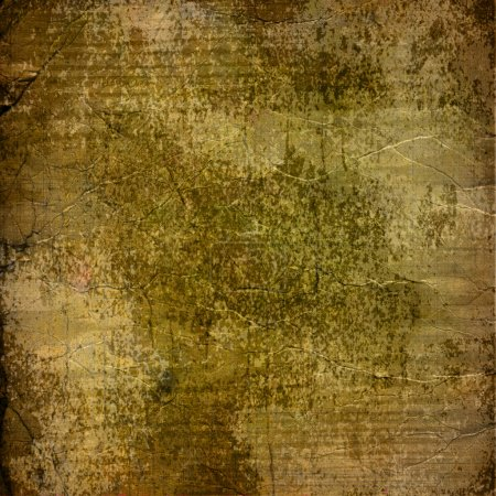 Alienated used paper background with gold ornamental for announ