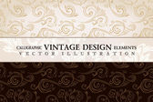 Vector vintage wallpaper Gift wrap Floral background with orna