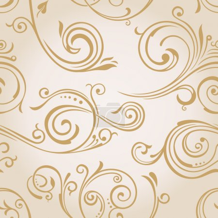 Seamless vector curves wallpaper. Vintage background