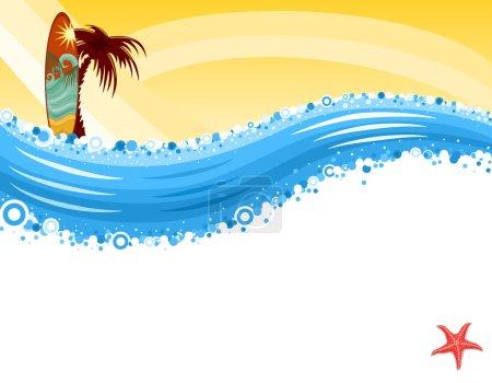 Summer vacation - Surf at tropical beach