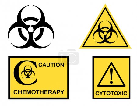 Bio hazard Cytotoxic and Chemotherapy symbols