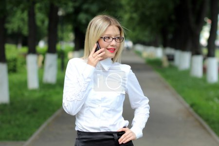 Lady talking on mobile phone