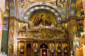 Ceiling fresco. The dome is decorated by icons of apostles. Gre
