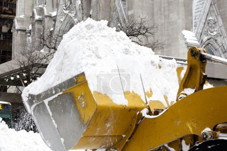 Snow removing in Manhatten