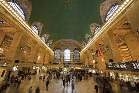 NUEVA YORK CITY, NY - 1 de enero. Grand Central es el segundo más concurrido s