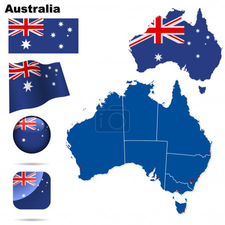 set vector Australie