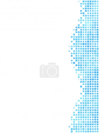 Blue wavy mosaic side element with white copy space.