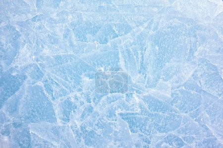Photo for Texture of ice of Baikal lake in Siberia - Royalty Free Image