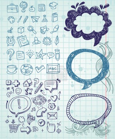 Illustration for Set of vector doodles - hand drawn design elements - Royalty Free Image