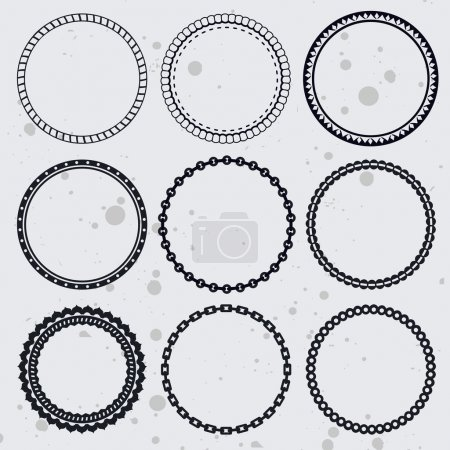 Vector collection with circle frames