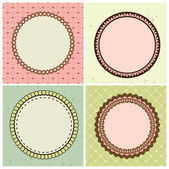 Vector set with circle frames for wedding invitation