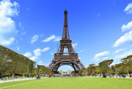 The Eiffel Tower in Paris, France...