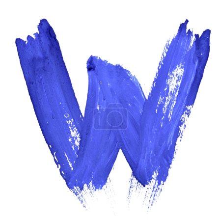 blaue handgeschriebene Buchstaben