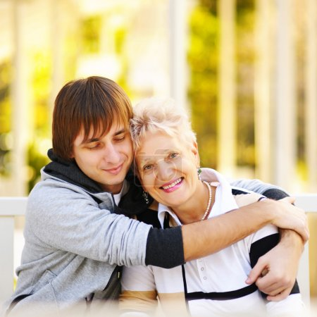 Photo for Mother and son having a hug - Royalty Free Image