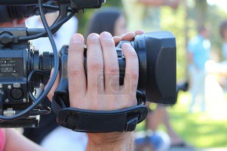 Man shoots at the camera...