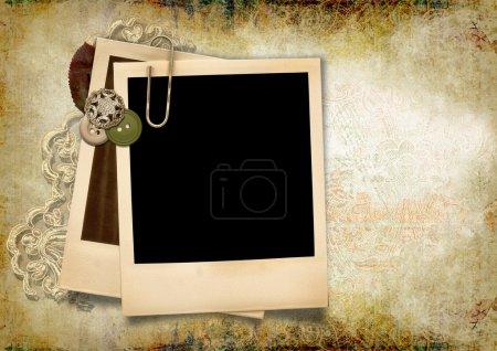 Photo pour Grunge fond abstrait avec cadre polaroïd et espace pour le texte ou l'image - image libre de droit