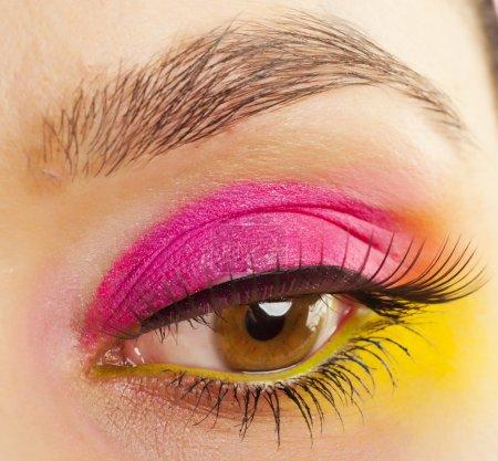 Close-up eye with glamor make-up