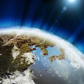 East earth map
