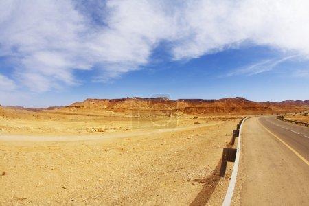The bright sun in stone desert