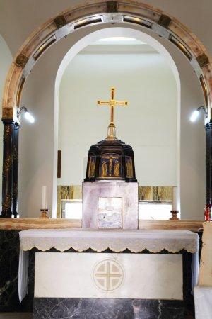 Église sur le mont des Béatitudes. Un intérieur .