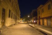 Dante Alighieri Square in Pisa at Night
