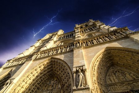 Notre Dame Cathedral - Paris, Dramatic view