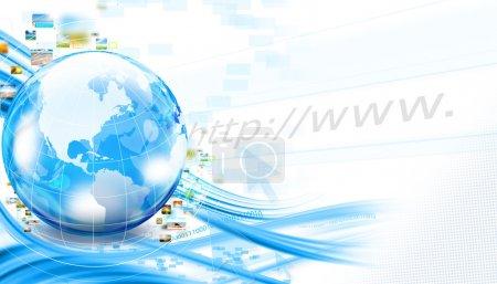 Photo pour Arrière-plan avec monde et streaming photos - image libre de droit