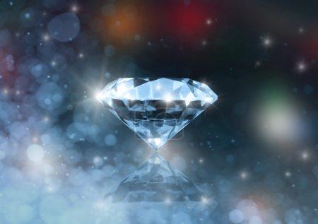Photo pour Diamant sur un fond flou coloré - image libre de droit
