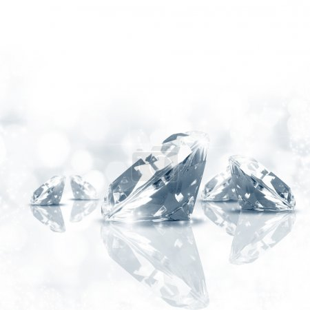 Photo for Luxury background of diamond in blue tone - Royalty Free Image