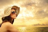 Sexy girl on the beach