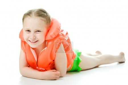 Young girl with lifejacket