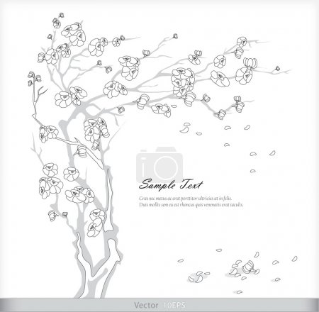 Illustration for Postcard depicting cherry - Royalty Free Image