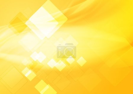 Illustration for Bright yellow hi-tech background. Vector design eps 10 - Royalty Free Image