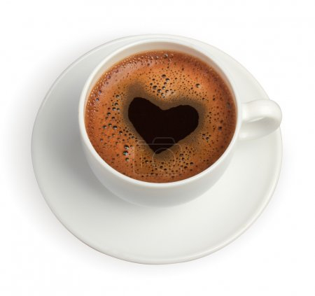 Photo for Coffe cup with heart - Royalty Free Image