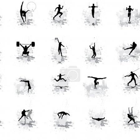 Illustration pour Fond d'écran sans soudure pour les Championnats de sport - image libre de droit