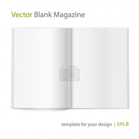 Photo pour Magazine vide vecteur répartis sur fond blanc. à l'aide de maille - image libre de droit