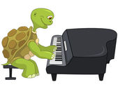 Funny Turtle Pianist
