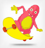 Funny Monster Skateboarding