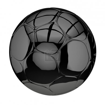 Photo for Football soccer black isolated on a white - Royalty Free Image