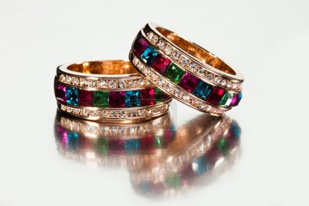 Close-up of rings or bracelets