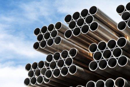 Aluminum tubes.