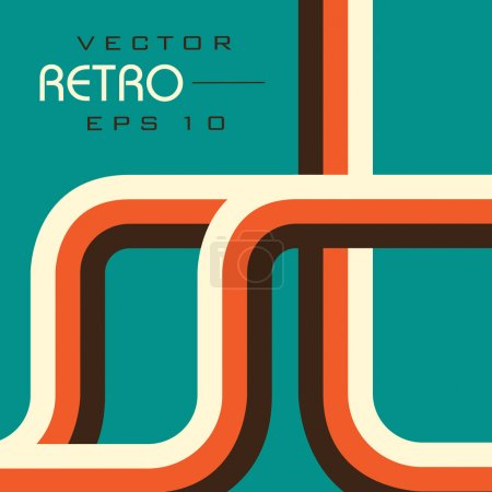 Retro style Vector illustration EPS 10 background.