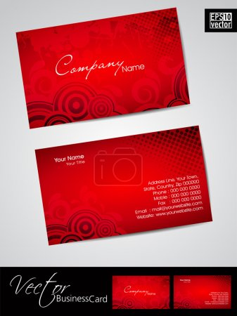 Business cards, template or visiting card set. and love concept, abstract EPS 10 Vector illustration.