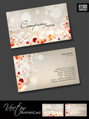 Business cards template or visiting card set and love concept abstract EPS 10 Vector illustration